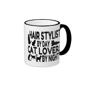Cat Lover Hair Stylist Ringer Mug