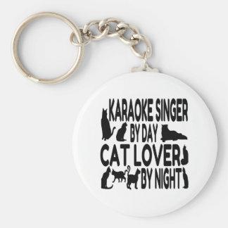 Cat Lover Karaoke Singer Keychain