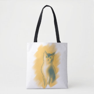 CAT LOVER KITTY TOTE BAG