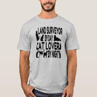 Cat Lover Land Surveyor T-Shirt