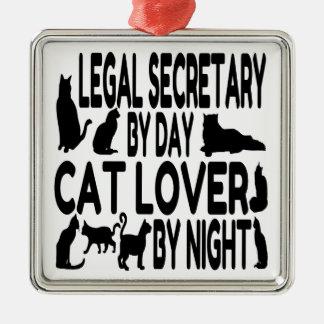 Cat Lover Legal Secretary Metal Ornament