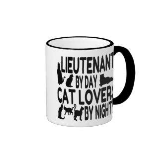 Cat Lover Lieutenant Ringer Mug