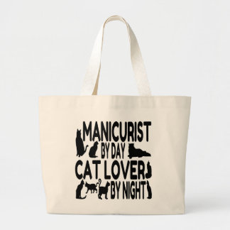 Cat Lover Manicurist Large Tote Bag