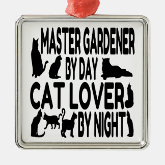 Cat Lover Master Gardener Metal Ornament