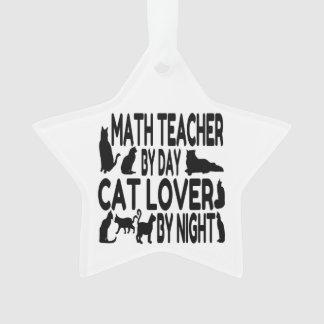 Cat Lover Math Teacher Ornament