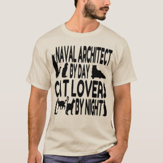 Cat Lover Naval Architect T-Shirt