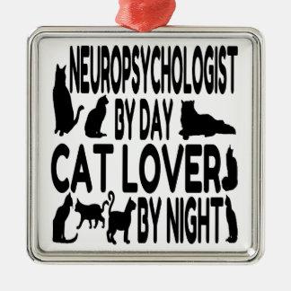 Cat Lover Neuropsychologist Metal Ornament