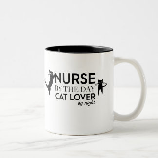 Cat Lover - Nurse cat Two-Tone Coffee Mug