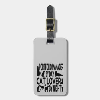 Cat Lover Portfolio Manager Luggage Tag