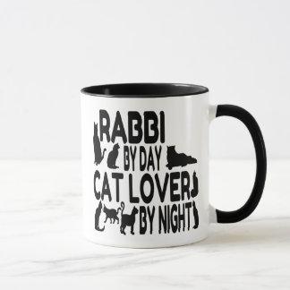 Cat Lover Rabbi Mug