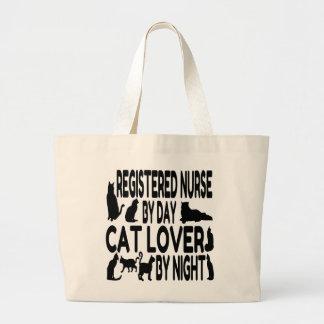 Cat Lover Registered Nurse Large Tote Bag