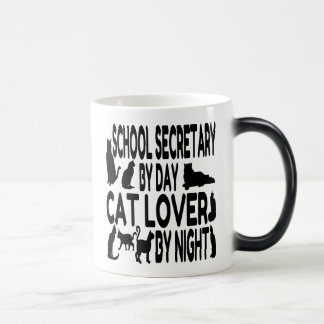 Cat Lover School Secretary 11 Oz Magic Heat Color-Changing Coffee Mug