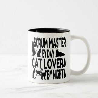 Cat Lover Scrum Master Two-Tone Coffee Mug