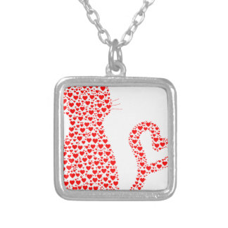 Cat Lover Silver Plated Necklace