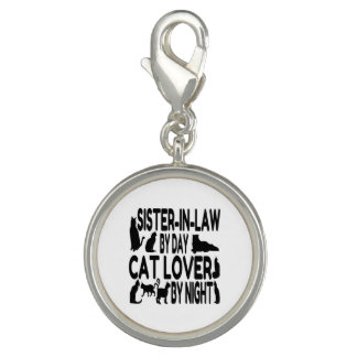 Cat Lover Sister in Law Photo Charm