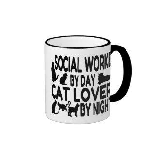 Cat Lover Social Worker Mugs