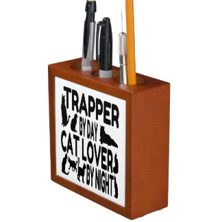 Cat Lover Trapper Desk Organizer