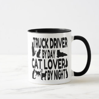 Cat Lover Truck Driver Mug