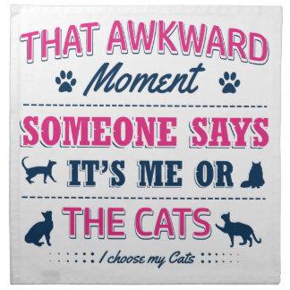 Cat lover tshirts napkin