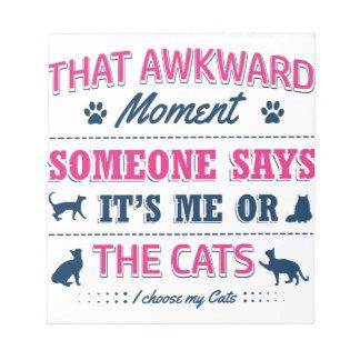 Cat lover tshirts notepad