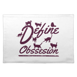 Cat lover tshirts placemat