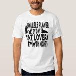 Cat Lover Ukulele Player Tee Shirts