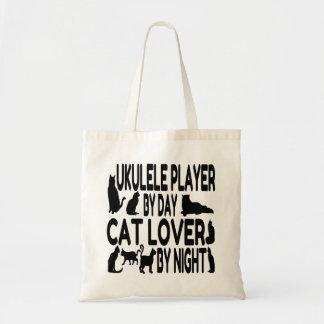 Cat Lover Ukulele Player Tote Bag