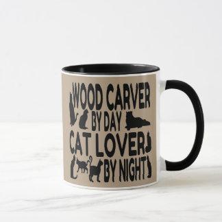 Cat Lover Wood Carver Mug