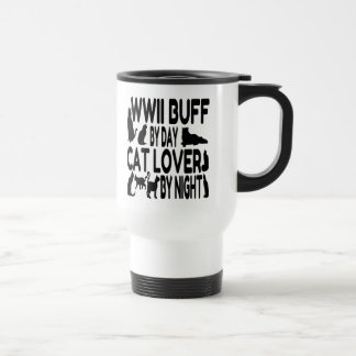 Cat Lover WWII Buff Travel Mug