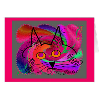 Cat Lovers abstract art gifts Greeting Card