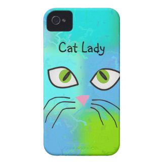 "Cat Lovers Art ""Cat Lady"" iPhone 4 Case-Mate Cases"