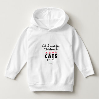 Cat Lovers Christmas Hoodie for Girls