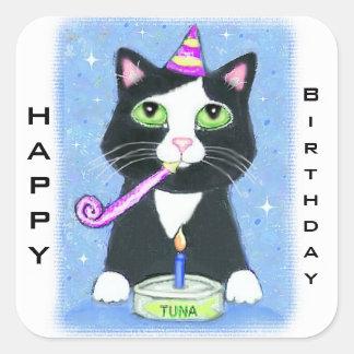 Cat Lover's Custom Happy Birthday Stickers