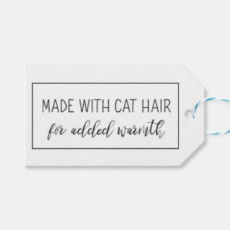 Cat Lovers Gift Tags for Handmade Products