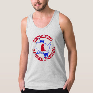 CAT LOVERS OF AMERICA TANK TOP