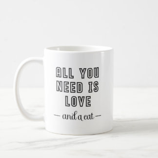 Cat Lovers Quote : All You Need Is Love And A Cat Coffee Mug