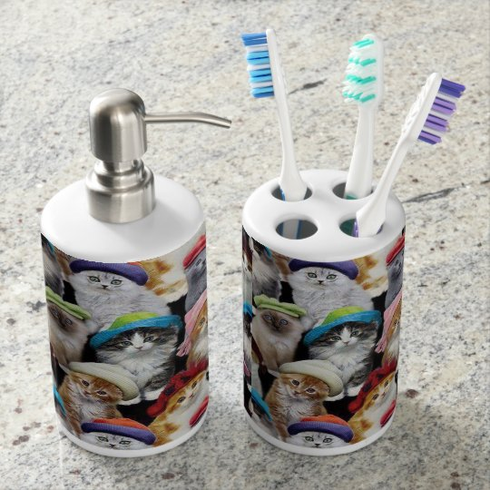 Cat Lovers Soap Dispenser Set