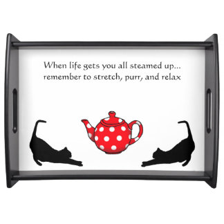 Cat lover's tea tray