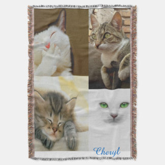 Cat Lovers Throw Blanket