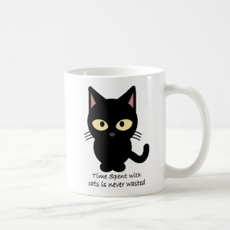 Cat lovers. Time spent with cats is never wasted Coffee Mug