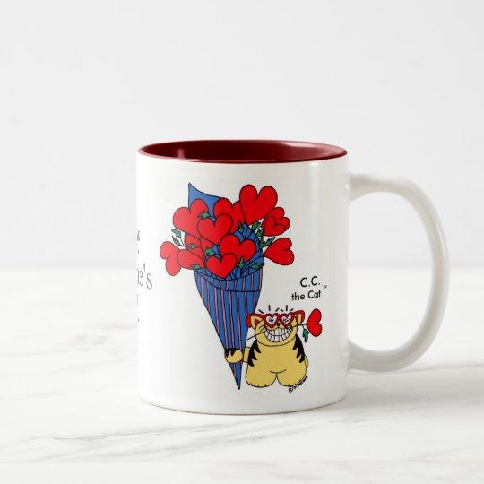 CAT LOVER'S VALENTINE Two-Tone COFFEE MUG