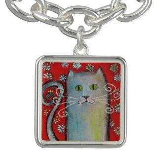 Cat Lovers-Whimsical Kitty Charm Bracelet