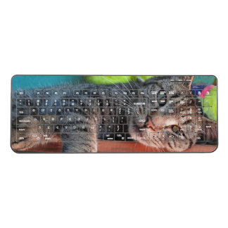 Cat Lovers Wireless Keyboard