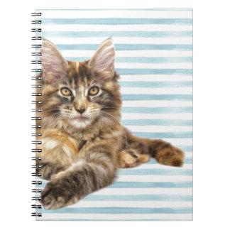 Cat, Maine Coon Spiral Notebook