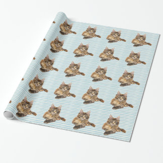 Cat, Maine Coon Wrapping Paper