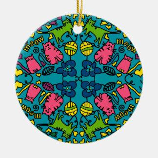Cat Mandala Ornament by Artist Shelley Szczucki