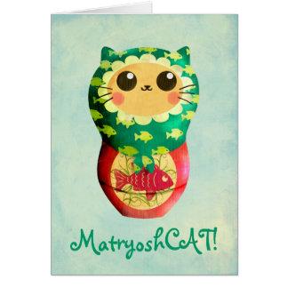 Cat Matryoshka Doll Card
