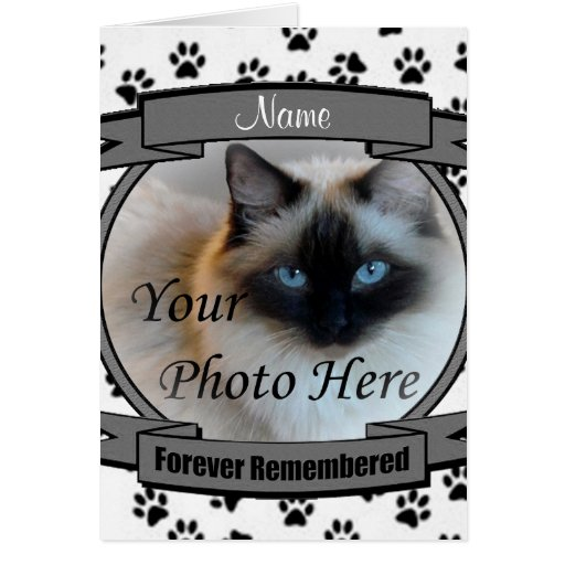 Cat Memorial Announcement - Forever Remembered Greeting Cards