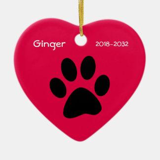 Cat Memorial Christmas Ornament