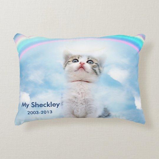 Cat Memorial Custom Brushed Accent Pillow